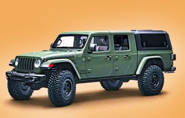 2020 Jeep Gladiator With Bed Cap